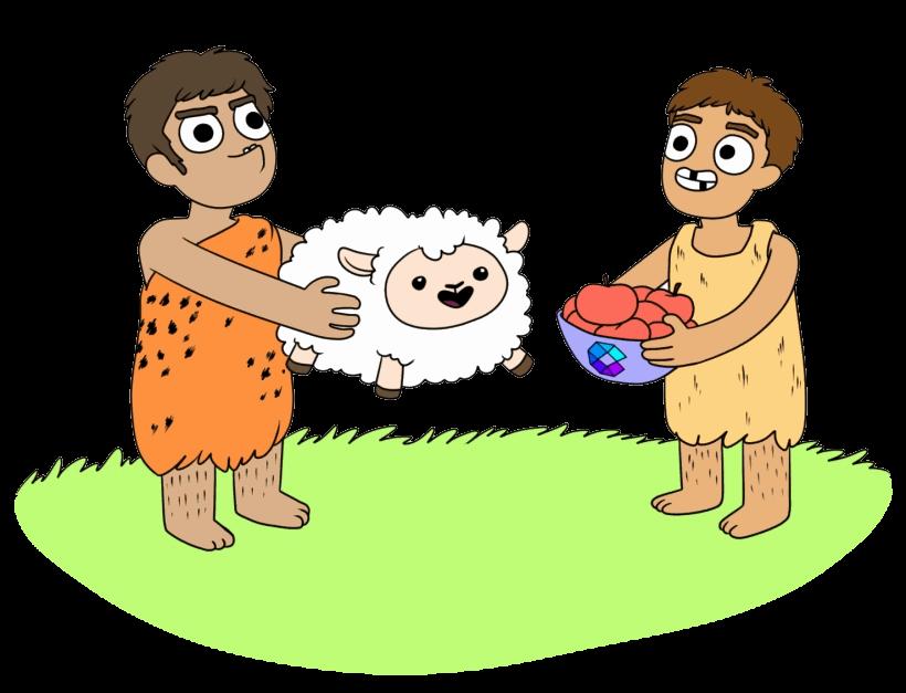 buy sell cartoon