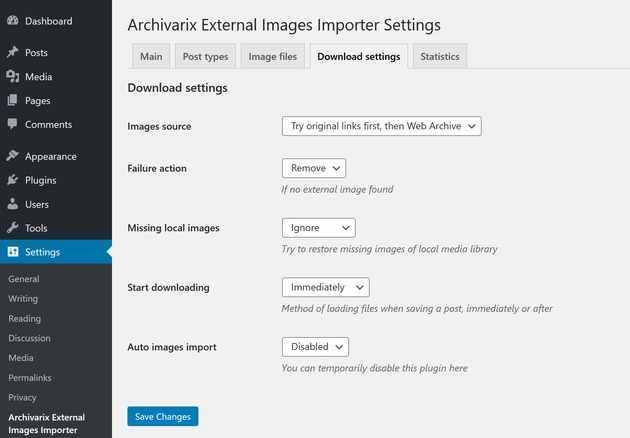 external images import to increase website speed wordpress plugin